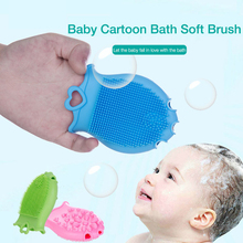 Soft Silicone Baby Bath Brushes Wash Pad Face shampoo Brush Shower Facial Cleanser Hair Comb Massage