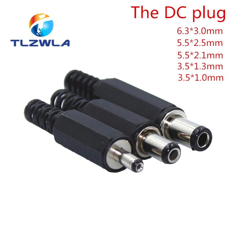 1Pcs DC Power Plug 5.5* 2.1mm 5.5* 2.5mm 3.5 * 1.35mm 6.3* 3.0mm Adapter Connector Plug 2.5* 0.7mm