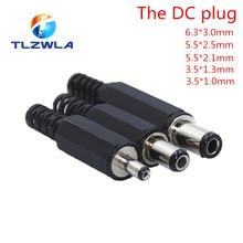 1 pces tomada de alimentação dc 5.5*2.1mm 5.5*2.5mm 3.5*1.35mm 6.3*3.0mm conector do adaptador plug 2.5*0.7mm