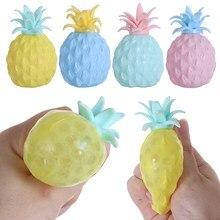 1pc cor aleatória abacaxi bola fidget sensorial brinquedos anti stress squeeze bolas ansiedade reliever crianças brinquedo material de borracha durável