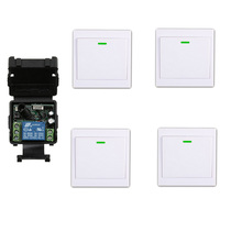 DC 12 v 24 v1CH mini wireless remote control switch 1 piece 35MM*32MM*17MM receiver&  transmitter wall switch