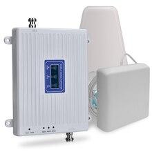70dB 2G 3G 4G 트라이 밴드 모바일 신호 리피터 GSM 900 DCS 1800 WCDMA 2100 핸드폰 셀룰러 신호 부스터 증폭기 3G 4G LTE