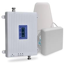 70dB 2G 3G 4G Tri banda repetidor de señal móvil GSM 900 DCS 1800 WCDMA 2100 teléfono móvil Amplificador de señal móvil amplificador 3G 4G LTE