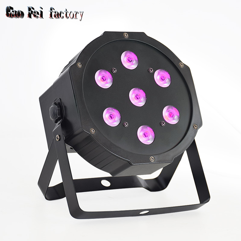 7*12W 4in1 High Quality RGBW LED PAR Can Slim Par Light  DMX Stage Disco Event Lights