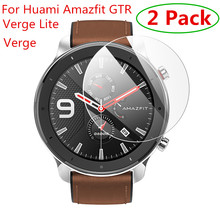 2pcs For Xiaomi Huami Amazfit Verge / Verge Lite Tempered Glass Screen Protector For Amazfit GTR 47mm 42mm Protective Film Guard