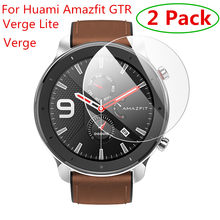 2pcs For Xiaomi Huami Amazfit Verge / Verge Lite Tempered Glass Screen Protector For Amazfit GTR 47mm 42mm Protective Film Guard(China)