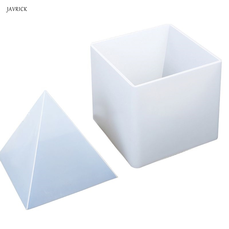 Transparent Silicone Mold Pyramid Shape Molds DIY Resin Crafts Decorations