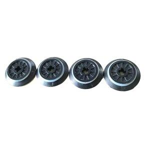 4Pcs/Lot Technic Parts Train Wheel Spoked Technic Axle Hole Rubber Friction Band Blocks Brick for 10254 Train Track Toys(China)