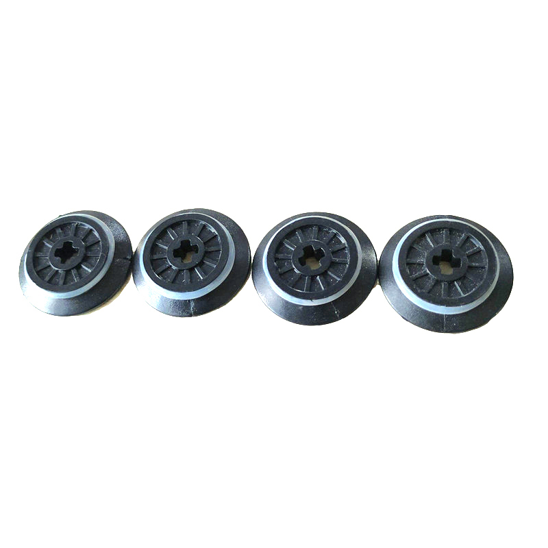 4Pcs/Lot Technic Parts Train Wheel Spoked Technic Axle Hole <font><b>Rubber</b></font> Friction Band Blocks Brick for 10254 Train <font><b>Track</b></font> Toys image