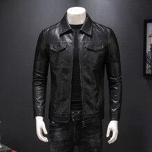 New Autumn Men's PU Leather Jacket For Men Fashion Chaquetas En Cuero Casaco Mas