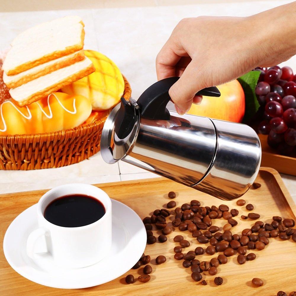 Кофейник из нержавеющей стали, аппарат для приготовления мокко, эспрессо, латте, Перколятор, Кофеварка, устройство для приготовления напитков 4