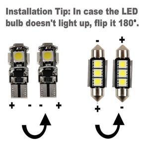 Image 3 - Bombillas LED de coche Canbus para Nissan Qashqai J10 J11 2013 2018, Kit de luz Led Interior para lectura, Kit de luz de techo, 10 Uds.