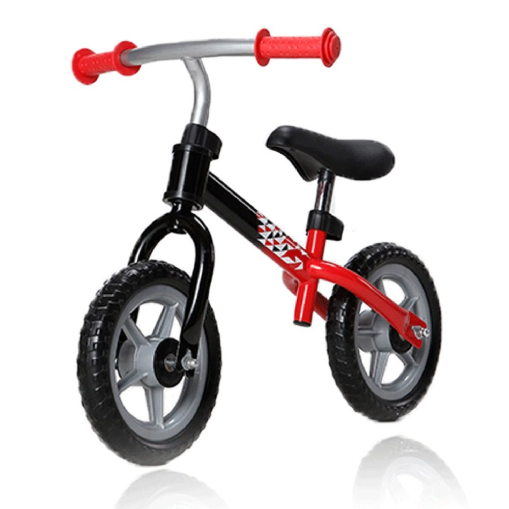 H60b115912210468e8f95f6c5b70bb3734 10 inch Children Balance Bike Kids Riding Bicycle Indoor Outdoor Balance Bicycle No Foot Pedal Baby Walker Riding Toy