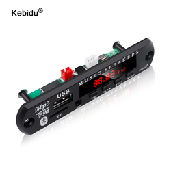 Kebidu 5v 12v mp3 wma placa de decodificador do módulo de áudio usb tf rádio bluetooth5.0 leitor de mp3 do carro da música sem fio com controle remoto