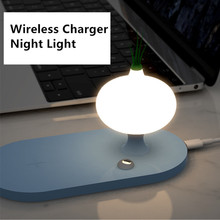Mushroom Yeelight Night Light Wireless Charger 7.5/10W For iPhone 11Pro Xs Max Induction Charger For Samsung Note9 Without Wire