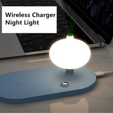 Mushroom Yeelight Night Light Wireless Charger 7.5/10W For iPhone 11Pro Xs Max Induction Charger For Samsung Note9 Without Wire(China)