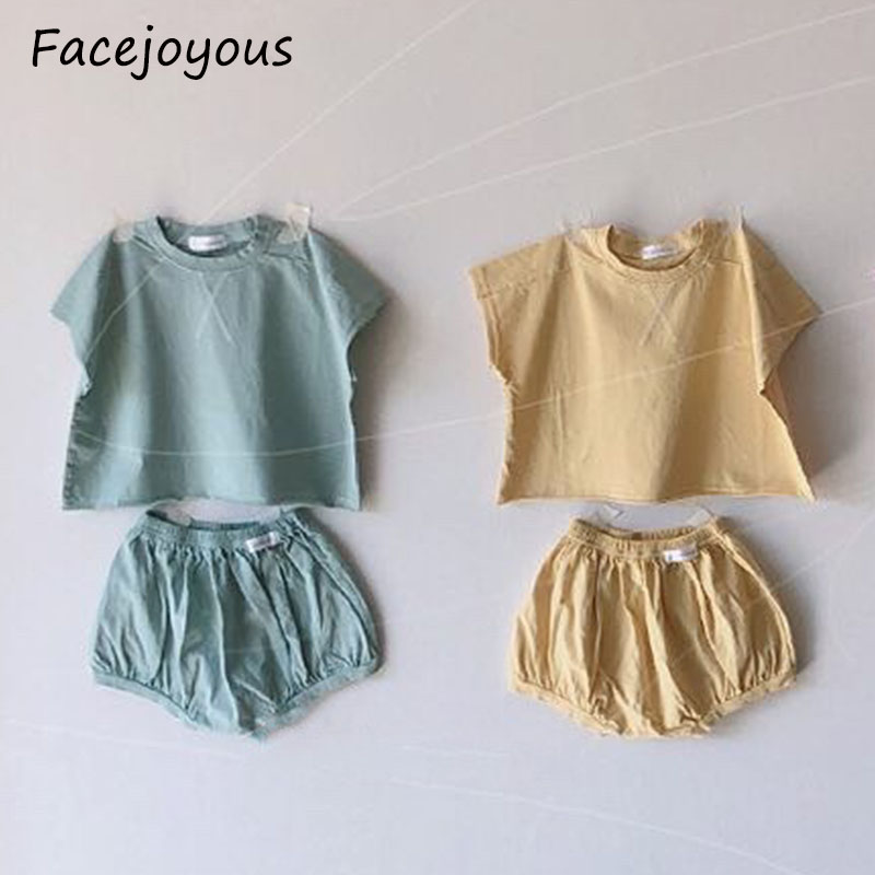 Summer Children Clothing Baby T-shirt Tops+shorts Outfit Kids Clothes Boys Tracksuit For Boys Girls Clothing Sets 6M-3T