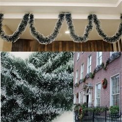New Year Christmas Decoration Bar Kitchen Tops Ribbon Garland Christmas Tree Ornaments Party Background wall decoration Supplies 3