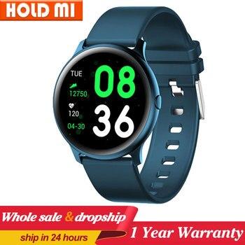 Reloj inteligente KW19 para hombre y mujer, reloj inteligente deportivo con control del ritmo cardíaco, mensajes, recordatorios y control del ritmo cardíaco para Android e IOS