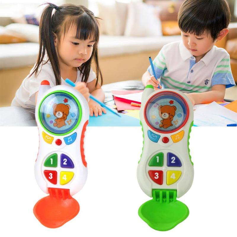 Baby Toys Baby Phone Toy Super Cute Baby Music Phone With Light Simulated Puzzle Toys Kid Educational Phone Christmas Gift