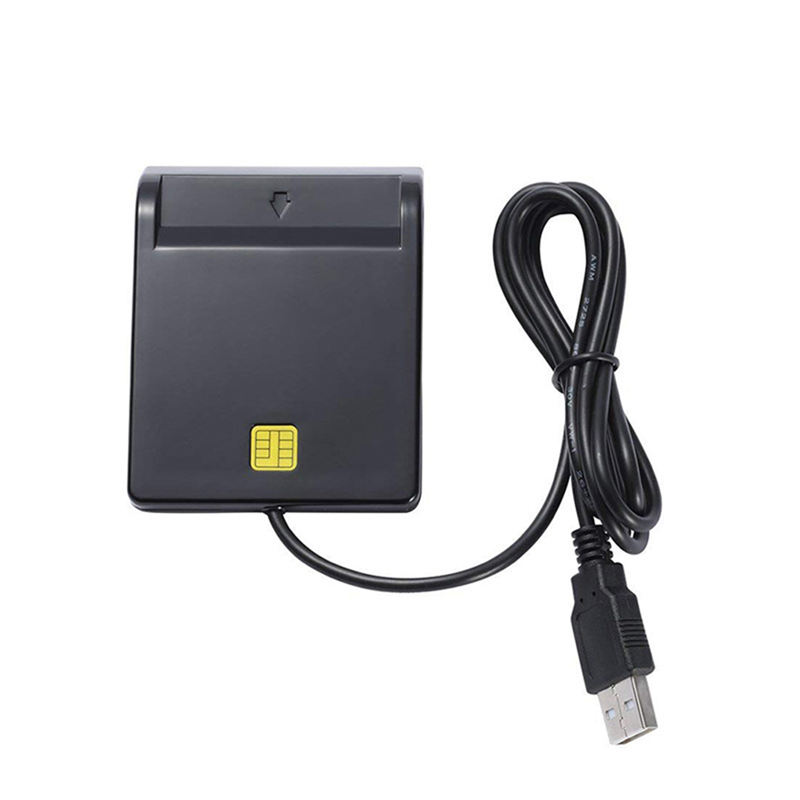 Smart Usb Card Reader Adapter Universal Portable Usb Common Access Emv With Cd Driver For Bank Card Sim/Atm/Ic/Id Card