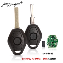 jingyuqin EWS Sytem Car Remote Key for BMW E38 E39 E46 X3 X5 Z3 Z4 1/3/5/7 Series 315/433MHz ID44 Chip Keyless Entry Transmitter