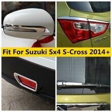 Arka tampon sis farları lambalar dikiz aynası ovuşturarak şerit kapak Trim aksesuarları dış Suzuki SX4 s çapraz 2014   2020