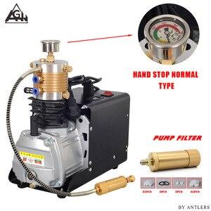 Image 5 - 30Mpa 4500psi 300Bar Hoge druk Lucht PCP Geweer Paintball Duiken scuba elektrische pomp met grote filter Mini Compressor