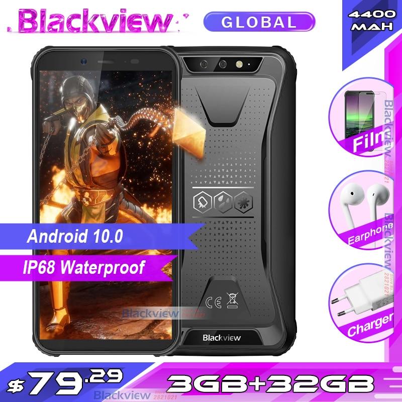 Blackview BV5500 Plus 3GB 32GB IP68 Waterproof Rugged Smartphone Android 10.0 5.5'' Full Screen 4400mAh 4G Mobile Phone(China)
