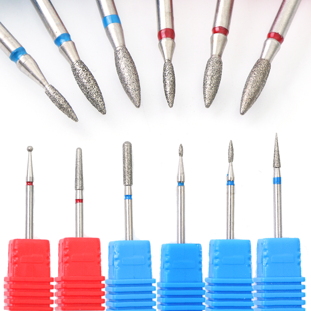 1pcs Rotate Burr Diamond Nail Drill Bit Electric Mills Cutter Cuticle Remove Manicure Pedicure Nail Files Cleaning Tool JI01-29