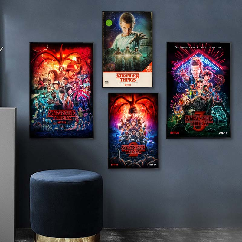 Stranger Things Poster Season 3 2 1 Characters Picture Classic Movie Wall Art Canvas Painting Cuadros for Living Room Home Decor
