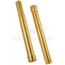 Tubos exteriores da forquilha dourada para as tubulações da forquilha de triumph daytona 675 2013 2017 2014 2015 ohlins 2016