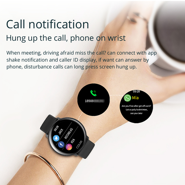 COLMI SKY 2 Smart watch IP68 waterproof Heart Rate Monitor Bluetooth Sport fitness tracker Men Smartwatch For iOS Android 4