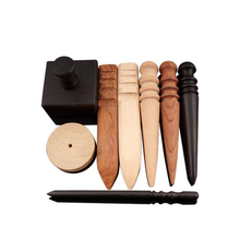 Leather-Tool DIY Wood Slicker for Polished-Edge 1pc