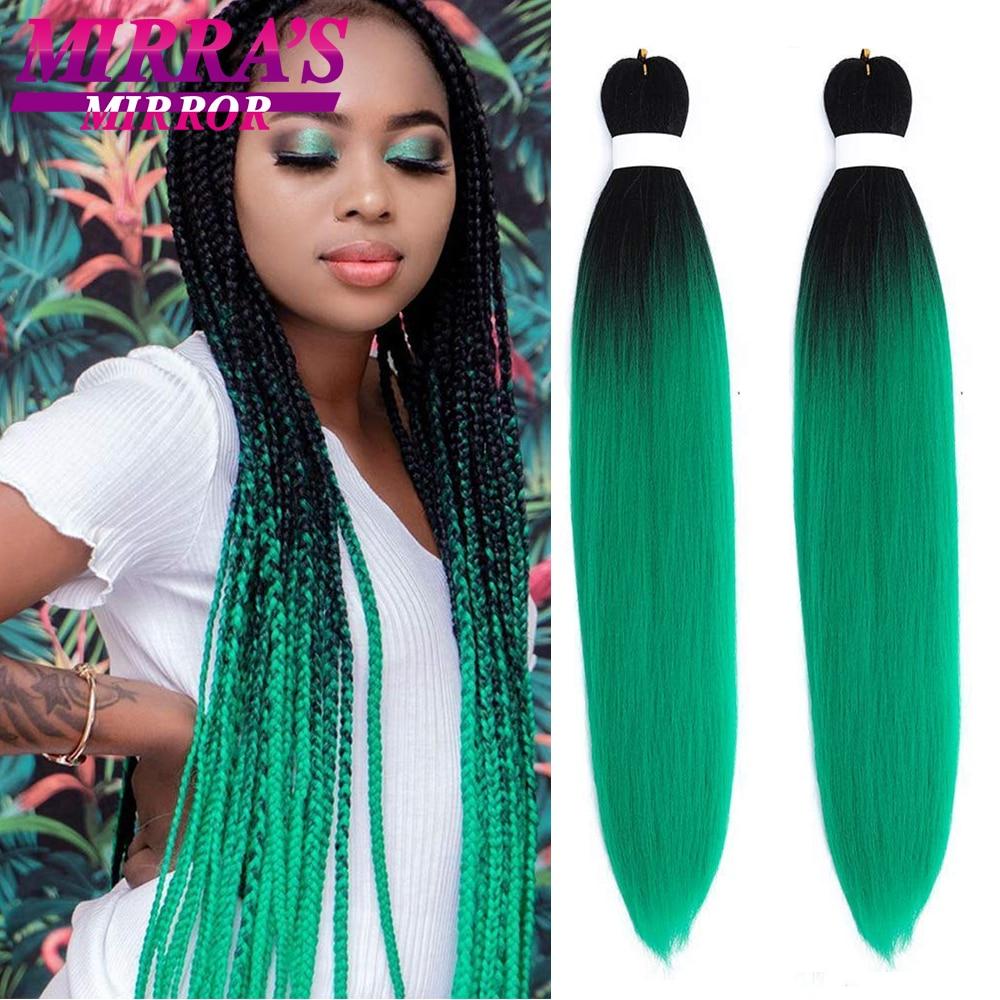 Mirra's Mirro синтетические плетеные волосы для женщин 24 дюйма Омбре Джамбо плетение волос Удлинение для Твист волос высокотемпературное волокн...