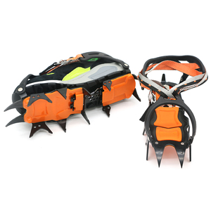 Image 4 - 12 Teeth Crampons Manganese Steel Climbing Gear Snow Ice Anti Skid Climbing Shoe Grippers Mountaineering Crampon Traction Device
