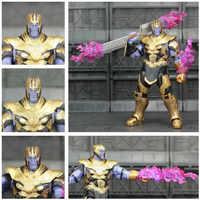 """Marvel Avengers 4 Endgame Thanos 2019 Movie 6 """"figurka zbroja kask rękawica nieskończoności KO SHF Legends zabawki lalki kolekcjonerskie"""