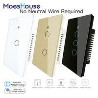 RF433 Wifi Smart Wall Touch Schakelaar Geen Neutrale Draad Nodig Smart Enkele Draad Muur Switch Werken Met Alexa Google Thuis 170-250V