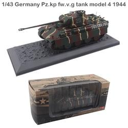 Raro 1/43 Alemania Pz. kp fw. v. g modelo de tanque 4 1944 modelo estático modelo de colección de aleación