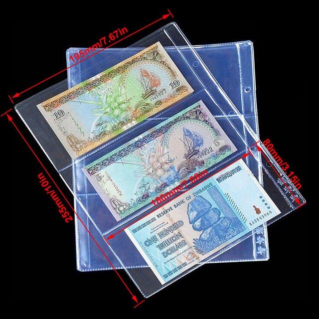 Mega Sale 8921db 10pcs Lot 3 Pockets Per Page Banknotes Paper Money Album Banknote Paper Money Postage Stamp Badges Tokens Medallions Collection Cicig Co