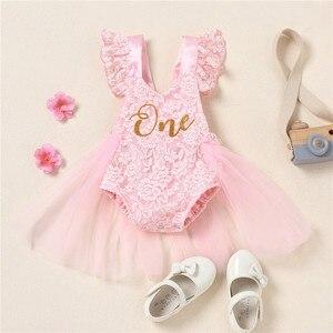 Для маленьких девочек; Комбинезон для детей; Платья с юбкой из тюля для малышей в возрасте 1 года крестильное кружевное Тюлевое платье для девочки; Детское платье невесты Вечерние наряды|Платья|   | АлиЭкспресс
