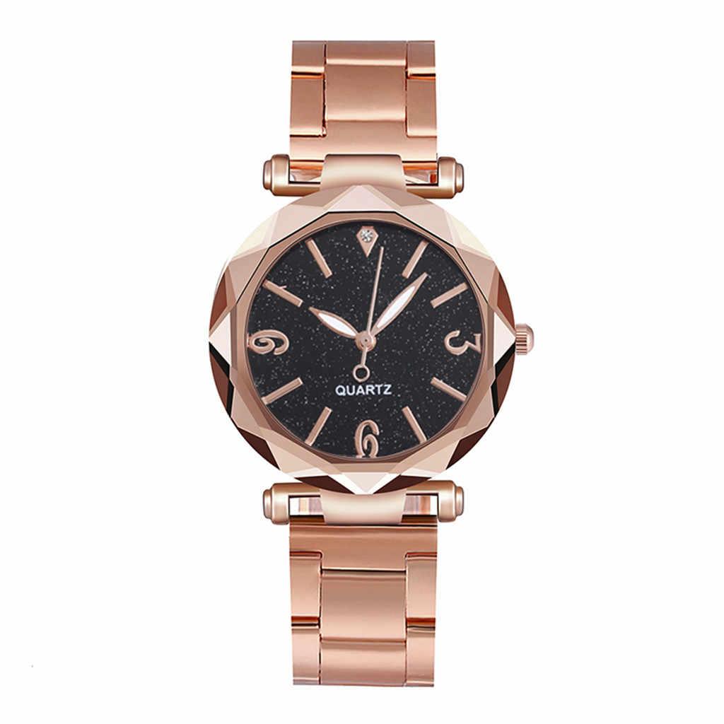 Relojes de moda cielo estrellado para mujer, reloj de pulsera de marca superior para mujer, relojes de pulsera de cuarzo, reloj de mujer Casual, reloj femenino