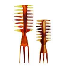 Щетка для волос с широкими зубцами Янтарное масло расческа вилка
