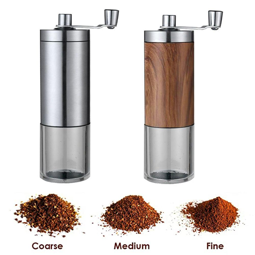 Manual Coffee Grinder Adjustable Coffee Grinder Stainless Steel Whole Bean Burr Coffee Grinder With Telescopic Handle Abrader