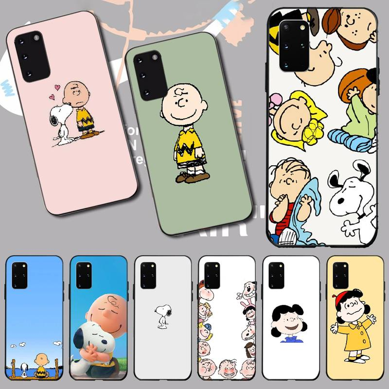 Cute Peanut Comic Puppy Cartoon Charlie Brown Phone Case Cover For Samsung S20 Plus Ultra S6 S7 Edge S8 S9 Plus S10 5G
