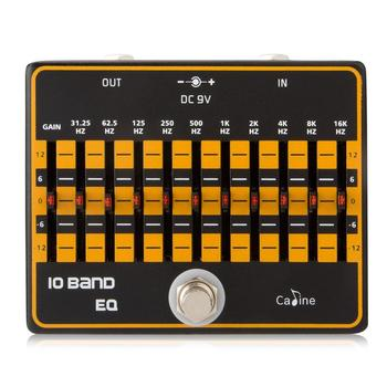None 10-Band Equalizer Electric Guitar Effects Pedal String Instrument Maintain Spare Parts for Beginner Guitar Effect Pedal