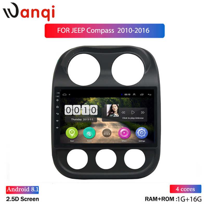 9 pulgadas Android 8,1 reproductor de coche GPS navegación Multimedia para JEEP Compass Patriot Radio 2010-2016 estéreo de coche WiFi BT sin DVD 1Din