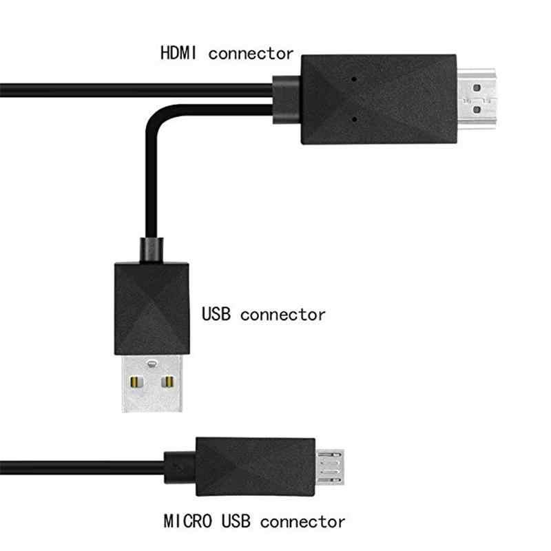 1.8M Micro USB MHL ALL'ADATTATORE di HDMI Cavo 5 Pin & 11 Pin 1080P HD TV Cavi Adattatore per samSung HuaWei Xiaomi HTC Android Phone