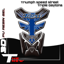 Motocykl Fishbone naklejka ochronna 3D gumowa naklejka zbiornik do motocykla naklejka na Triumph Speed Street Triple Daytona