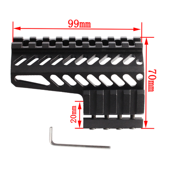 vector optics 12 inch ras free float handguard quad picatinny rail onepiece 223 5 56 extended carbine length a2 style Magorui Tactical  Side Mount Side Handguard fits for 20mm Picatinny Rail Free Float Handguard